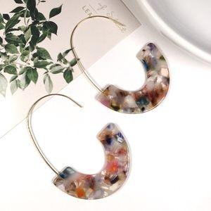 Jewelry - Multicolored Tortoise Shell Resin Dangle Earrings
